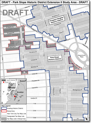 Proposed North Slope expansion for Historic District