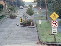 One-lane chicane