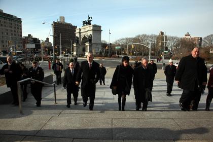 Mayor Bloomberg at Grand Army Plaza