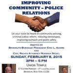 Town Hall to Discuss Improving Community-Police Relations this Sunday, 2/8