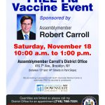 FREE Flu Vaccine Event Sponsored by Assemblymember Carroll