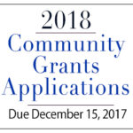2018 Community Grants Application Process