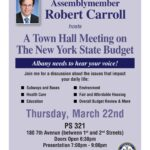 Assemblymember Robert Carroll to host Town Hall Meeting on the NYS Budget