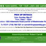 Rain Barrel Giveaway Program: Presented by Assemblymember Robert Carroll and the Department of Environmental Protection